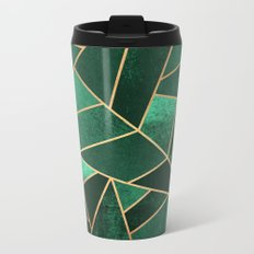 Emerald and Copper Metal Travel Mug