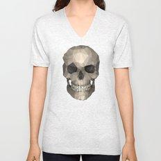 Polygons skull black Unisex V-Neck