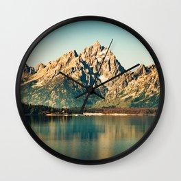 Mountain Lake Escape Wall Clock