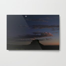 Fajada Butte & Moon Metal Print