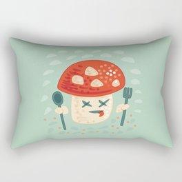 Funny Cartoon Poisoned Mushroom Rectangular Pillow