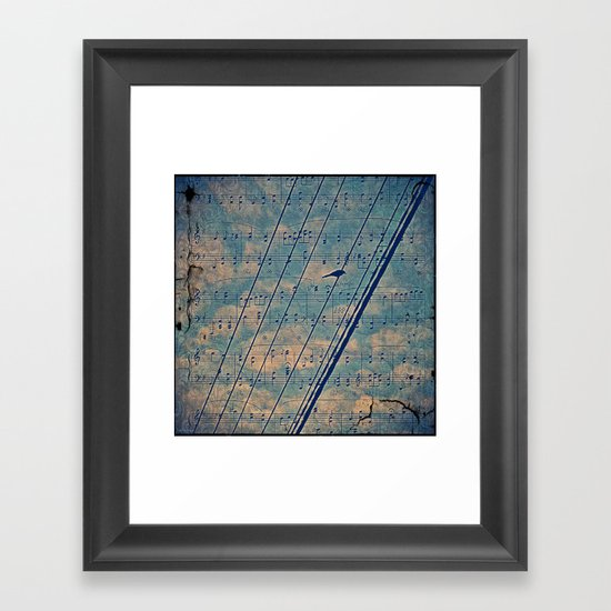 Song of the wires  Framed Art Print