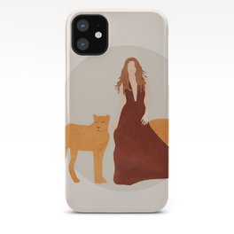 Woman with Cheetahs iPhone Case