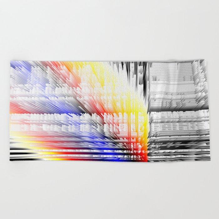 city color fabric Beach Towel