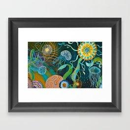 Three moons & a tropical sun Framed Art Print