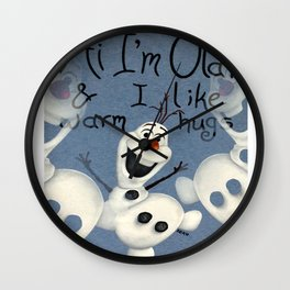 Olaf from Frozen Wall Clock