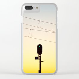 Green light to the unknown Clear iPhone Case