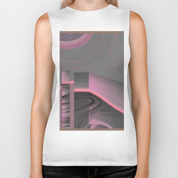 Claraboya, Geodesic Habitacle, Pink neon room Biker Tank