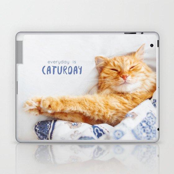 Everyday is caturday Laptop & iPad Skin