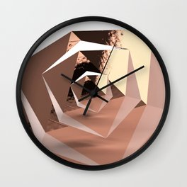Multifaceted - Rose Gold and Copper Wall Clock