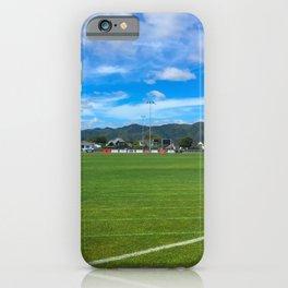 Green Grass Sports Field iPhone Case