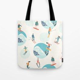 Ski pattern Tote Bag