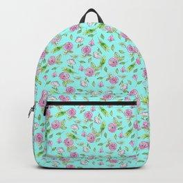 Minty Rose pattern Backpack