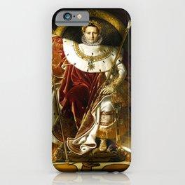 "Jean-Auguste-Dominique Ingres ""Napoleon on his Imperial throne"" iPhone Case"