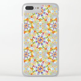 Beaux Arts Flower Crown Clear iPhone Case