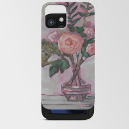 Pops of Hot Pink Florals iPhone Card Case