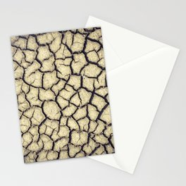 Parched land in the Regional Natural Park of Camargue Stationery Cards