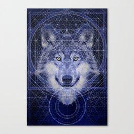 Wolf Geometry Canvas Print