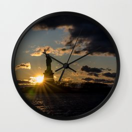 Liberty Starburst Wall Clock
