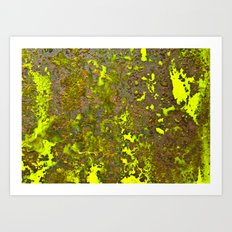 Yellow Rust Art Print