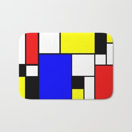 Colored Squares Art Bath Mat