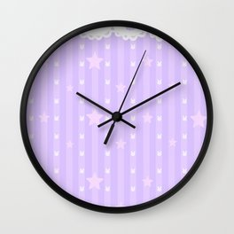 Kawaii Purple Wall Clock