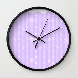 Kawaii Purple Wall Clock
