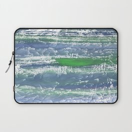 Green Blue clouded wash drawing design Laptop Sleeve