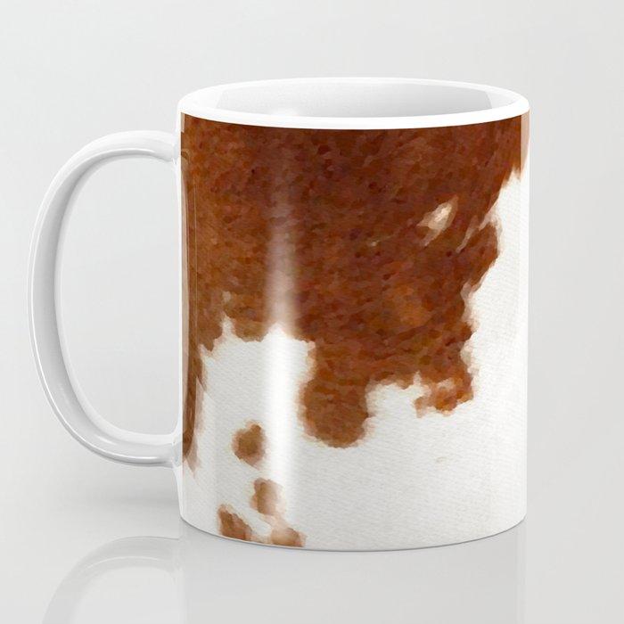 brown cowhide watercolor Coffee Mug