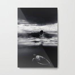 Turtle Storm by GEN Z Metal Print
