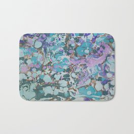 Aquabubble marbleized print Bath Mat