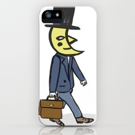Moon Going to Work iPhone Case