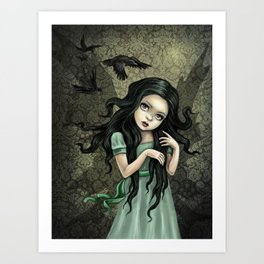 Shadow Wings Faerie Art Print