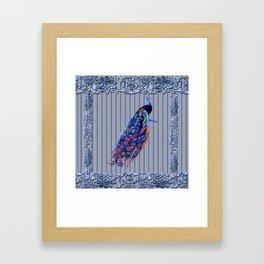 Splendor Peacock Fantasy Victorian Accents Framed Art Print