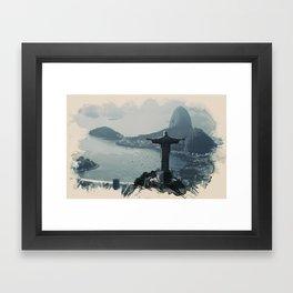 Wonders of the Worlds - Rio, Brazil Framed Art Print