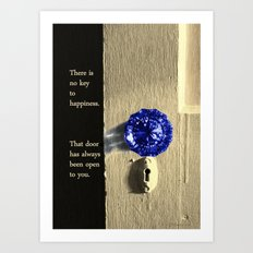 Key to Happiness Art Print