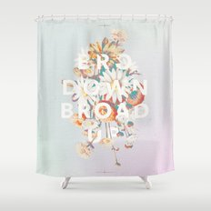 Bro Down, Broad Up Shower Curtain