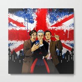 British Tardis Selfie Metal Print