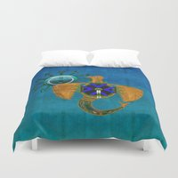 native american Duvet Covers featuring Of Sky Native American by BohemianBound