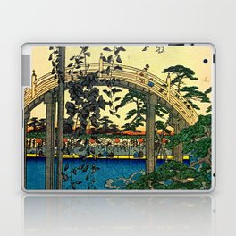Hiroshige View Of Bridge Over Water Laptop & iPad Skin