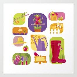Summer Farm Art Print