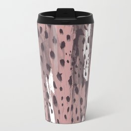 Rose and Dark Violet Metal Travel Mug