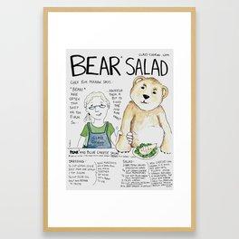 Bear Salad Framed Art Print