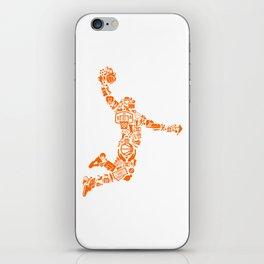 Basketball Art Dunk iPhone Skin