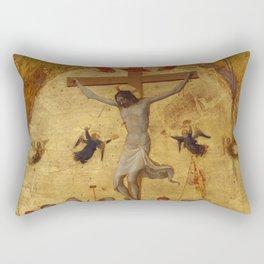 "Fra Angelico (Guido di Pietro) ""The Crucifixion"" ca. 1420–23 Rectangular Pillow"