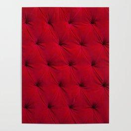 Padded red velvet texture Poster