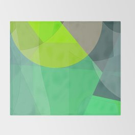 Abstract 2017 033 Throw Blanket