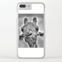 Smiling Giraffe Clear iPhone Case