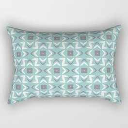 Abstract Shape Pattern 2021 Color of the Year Aqua Fiesta and Accent Shades Rectangular Pillow