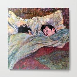 """Henri de Toulouse-Lautrec """"The Bed"""" Metal Print"""
